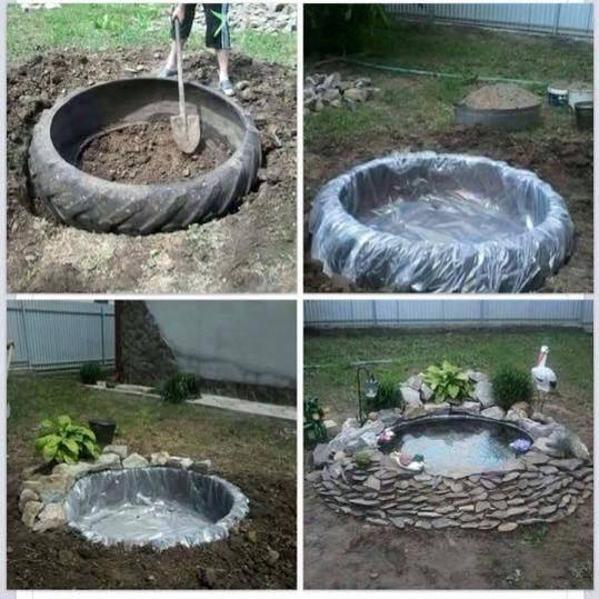 Uz pomoć stare TRAKTORSKE GUME, brzo i lako napravite savršenu fontanu za svo...
